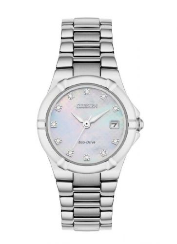 EW1531-55D Diamond Set Citizen Watch Stainless Steel Eco-drive Ladies